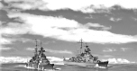DKM Prinz Eugen and Bismarck